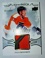 2016-17 Upper Deck Exquisite Ivan Provorov Rookie Patch #'d 211/299 Card # RP-IP