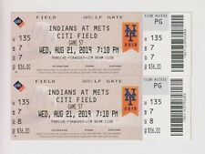 2019 August 21 New York Mets Vs Cleveland Indians TICKET
