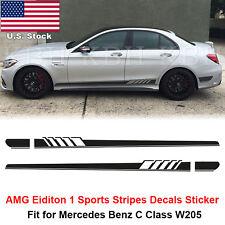 AMG Edition 1 Stripes Decal Sticker Mercedes W205 C200 C250 C300 C450 C63 Black