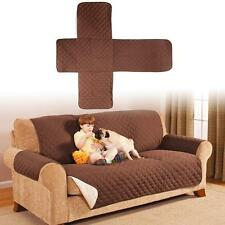 COTTON QUILTED WATERPROOF 2 SEATER SOFA COVER PET DOG KIDS FURNITURE PROTECTOR