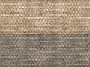 Pack of 3x 3D Cardboard Sheet N gauge Plain Tile Grey 25x12.5 cm Noch 56971
