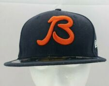 NFL Chicago Bears B New Era 59Fifty On Field Navy Blue Orange Fitted Hat TF