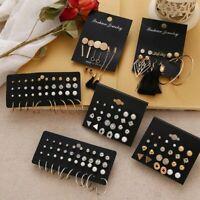 Women's Earrings Set Pearl Crystal Stud Earrings Boho Geometric Tassel Jewellery