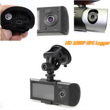 "2.7"" Dual Lens GPS G-Sensor Car Video Camera DVR Recorder Camera Cycle Recording"