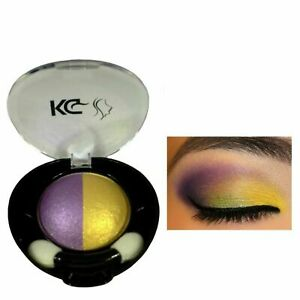KRAZY GIRL DUO COLOUR EYESHADOW 022 PURPLE / GOLD & FREE COLOUR EYELINER PENCIL