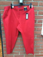 M&S Collection cotton mix Red Slim Ankle grazer Size 24 short BNWT RRP £35