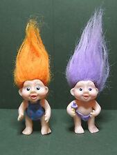 Lot 2 Figurine poupée Magic Troll Babies Applause Toys 1991 n°1