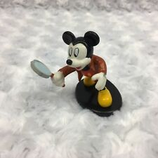 Mickey Mouse Walt Disney Vintage Applause Figurine Spy Holding Magnifying Glass
