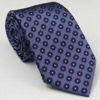 NWT Current Ermenegildo Zegna Men's Silk Purple Floral Neck Tie 58L 3.25W