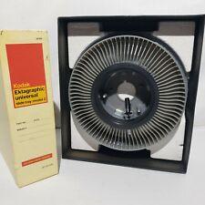 Vintage Kodak Ektagraphic Universal Carousel Slide Tray Model 2 In Box 80 Slides