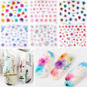 50 Sheet 3D Flower Nail Art Transfer Stickers Decal Manicure Decoration Tips DIY