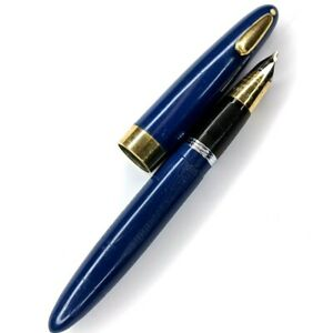 c1940s Blue Sheaffer Tuckaway 1000 Fountain Pen 14k Gold Triumph Nib G14