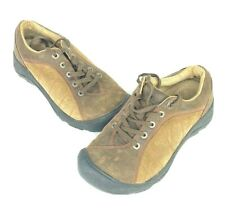 Keen Womens 7 Brown Presidio Walnut Leather Lace Up Hiking Shoes SM 0312