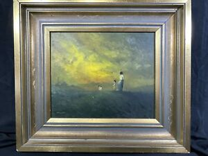 Keith Ken Willes (1919-93) Original Oil Painting Titled ' Sunset Dawdle' Signed