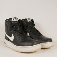 Youth Size 6.5Y Black White Nike Air Force 1 High Top Leather Shoes 653998-010