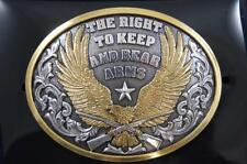 Nocona  Belt Buckle Eagle The Right To Keep and Bear Arms 37117