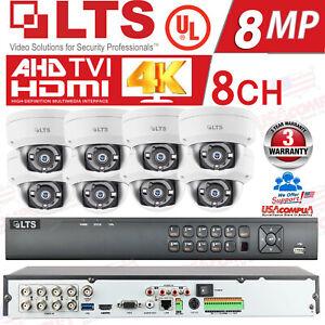 LTS 8ch Security Cameras System Kit 8Megapixel H.265+ 4K /HDD Included / V/PROOF