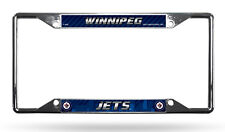 Winnipeg Jets EZ View LBL Chrome Frame Metal License Plate Tag Cover NHL Hockey
