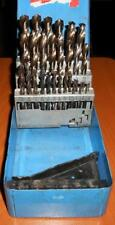 Vintage Lawson Standard Drill Bit Set W/Case 1/16-1/2  Super Fast Shipping