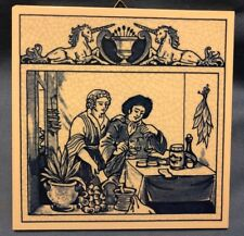 COMMEMORATIVE BURROUGHS WELLCOME PHARMACY PILL TILE-DELFT HOLLAND-THE HERBALIST