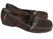 AEROSOLES Matter Brown Suede Leather Loafers Shoes Flats Size 8M Women's