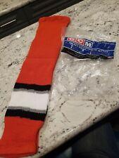 "Brand New Ccm Anaheim Ducks Hockey Socks Pro-Weight Youth 24"""