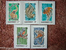 Guernsey TIMBRO SCHEDE N. 10, Wildlife Conservation 1989. 5 Scheda Set Nuovo di zecca COND.
