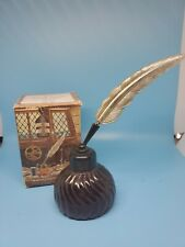 Vintage Avon Inkwell Decanter Windjammer After Shave Full 6oz. with Box!