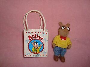 """Arthur In Gift Bag Mini 5"""" 1997 Eden pvc flocked jointed figure"""