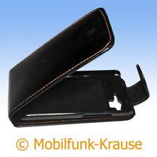 Flip Case Etui Handytasche Tasche Hülle f. HTC Rhyme (Schwarz)