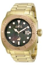 Invicta Men 48mm Australian Grand Diver Gold Plated Automatic Braclet MOP Watch