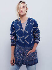 New Free People Beautiful Reversible Quilted Jacket ~ Size Large / Reg. $499