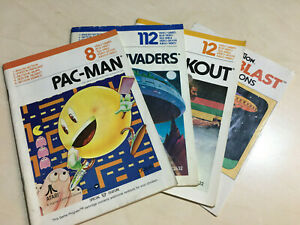 Atari VCS 2600 Pac-man space invaders breakout and laser blast manuals