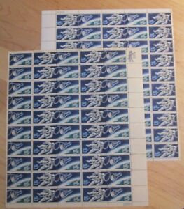 1331-32 ACCOMPLISHMENTS IN SPACE 2 MNH SHEETS OF 50 STAMPS EACH - Q91