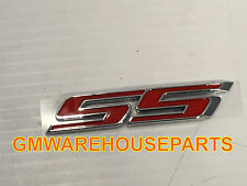 "2016-2017 CAMARO RED ""SS"" TRUNK EMBLEM NEW GM #  84005309"