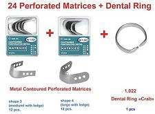 "24 pc Perforated Matrices Matrix + Dental ring ""Crab"" TOR VM"