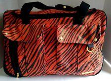 "Cynthia Rowley Orange/Black Rolling Travel Bag Carry On Luggage 20"""