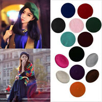 Sweet Women Solid Beret Warm Wool French Beanie Hat Cap Casual Winter Spring