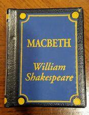 Macbeth Del Prado Doll House Miniature Book Classic Library William Shakespeare