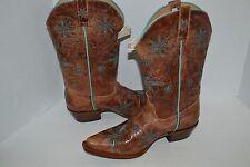 WOMENS SHYANNE Daisy Mae WESTERN LEATHER BOOTS BBW12 COWGIRL SNIP TOE SZ 9 M