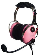 SkyLite Children Youth Pink MP3 GA Aviation Pilot Headset SL-900MC with free Bag