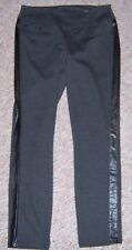 JAG Black Gray Medium Thick Stretch Knit Pull On High Rise Skinny Pants Size 12