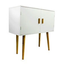 Storage Cupboard Doors Cabinet Bookcase Furniture Bedside Side Table White Units