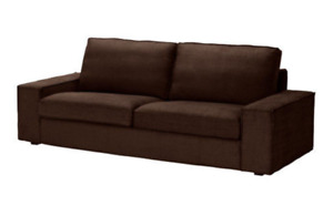 "Original SLIPCOVER for the 89 3/4"" wide IKEA KIVIK Sofa, Tullinge Dark Brown,NEW"