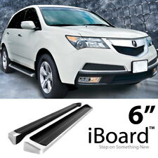 Running Board Style Side Step 6in Silver Fit Honda Pilot 09-15