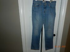 Levis 505 Size 8 M Straight Leg Med Blue Stretch Denim Womens Jeans