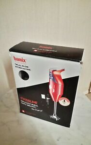 BAMIX SWISSLINE M200 ALL-IN-ONE SILVER HANDHELD BLENDER WITH PROCESSOR AND STAND