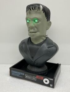 Gemmy Talking Animated Frankenstein Head Bust Halloween Prop Universal Monsters