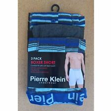 3 Pairs Mens Pierre Klein Boxer Shorts/Boxers Underwear Size S - 5XL