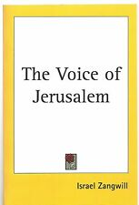Israel Zangwill The Voice of Jerusalem TPB Ed NEW